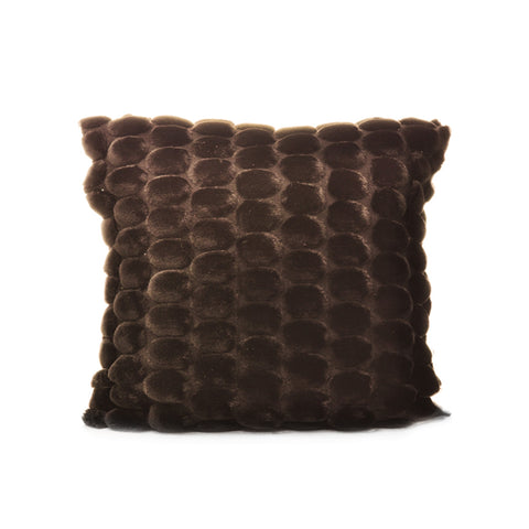 Egg Collection | Brown Cushion Cover | Velvet