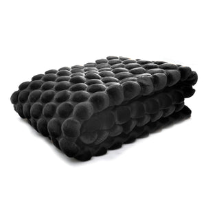Egg Collection | Black Throw | Velvet