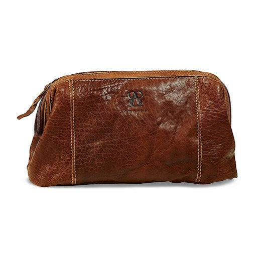 Toiletry Bag | Waxed Buffalo Leather - STOCKHOLM