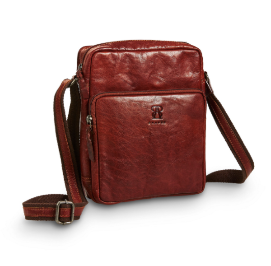Small Shoulder Bag | Brown | Waxed Buffalo Leather - STOCKHOLM