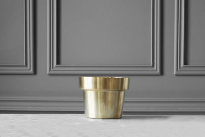 Pot | Brushed Brass | Extra Small - STOCKHOLM