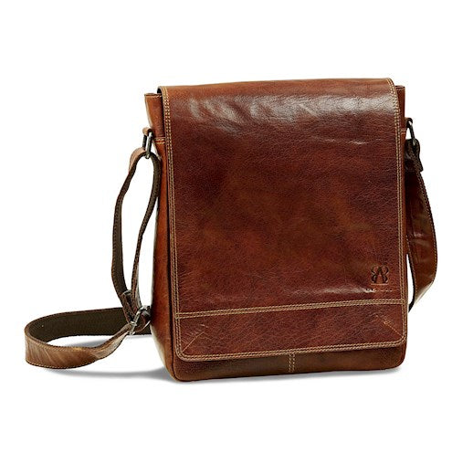 Messenger Bag | Brown | Waxed Buffalo Leather - STOCKHOLM