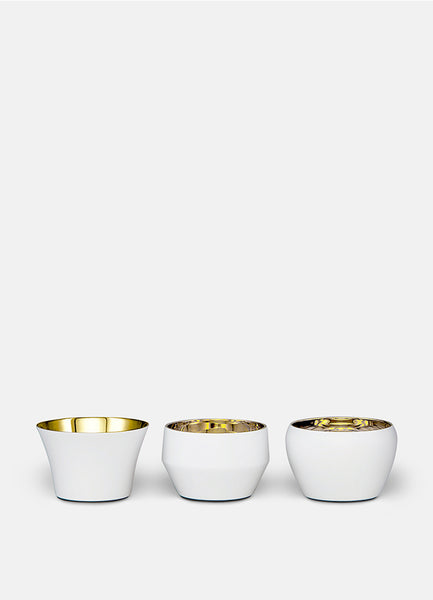 Candle Holder Kin | Set of 3 | White
