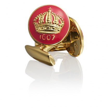 Cufflinks | The Skultuna Crown Gold | Italian Racing Red - STOCKHOLM