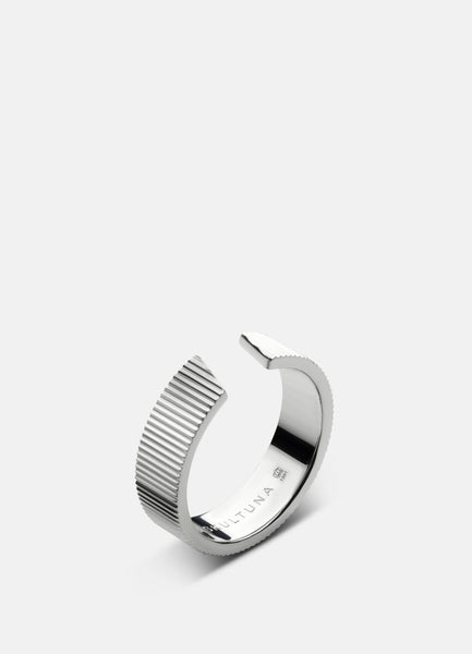 Ring | Ribbed Series | Thick | Steel - STOCKHOLM