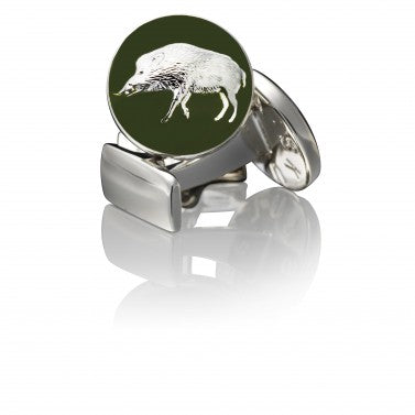 Cufflinks | The Hunter | Silver Green - STOCKHOLM