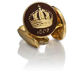 Cufflinks | The Skultuna Crown Gold | Coffee Bean Brown - STOCKHOLM