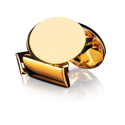 Cufflinks | Black Tie Collection | Gold Oval - STOCKHOLM
