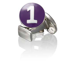 Cufflinks | The Racer | Silver | Purple - STOCKHOLM