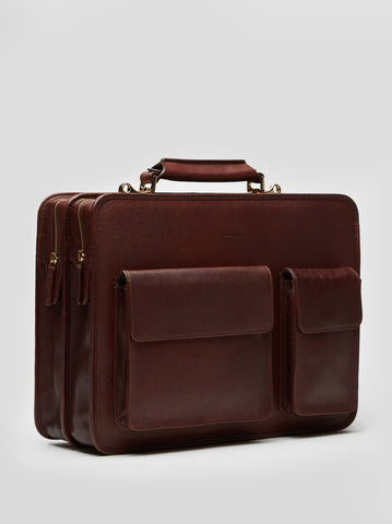 Laptop Bag | Elmo | Chestnut Leather - STOCKHOLM