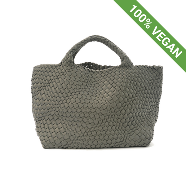 Hand Braided Shopper | Grey | Vegan