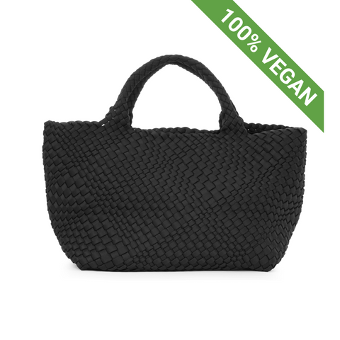 Hand Braided Shopper | Black | Vegan