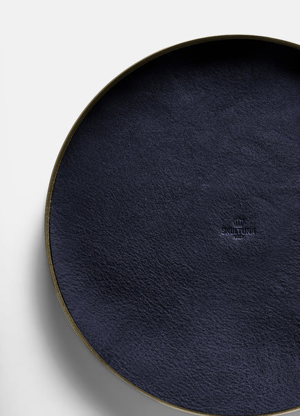 Tray | Karui | Blue Leather | Large - STOCKHOLM