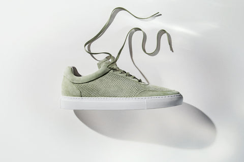 Sneakers | Breathable | Suede | Pistacchio - STOCKHOLM