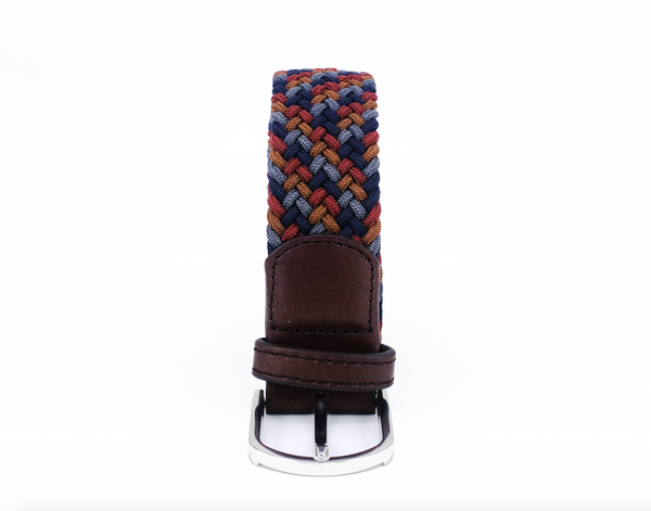 Braided Belt | Coffee Mix | Brown Leather - STOCKHOLM