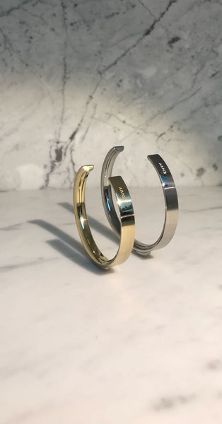 The Bangle | Wide Brass - STOCKHOLM