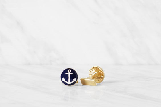 Cufflinks | The Anchor | Gold - STOCKHOLM