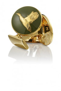 Cufflinks | The Hunter | Gold & Green | The Flying Duck - STOCKHOLM
