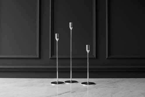 Candlestick | Nattlight | Silver | Medium - STOCKHOLM