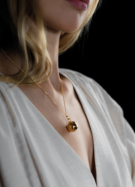 Necklace | The Ball | Gold Plated - STOCKHOLM