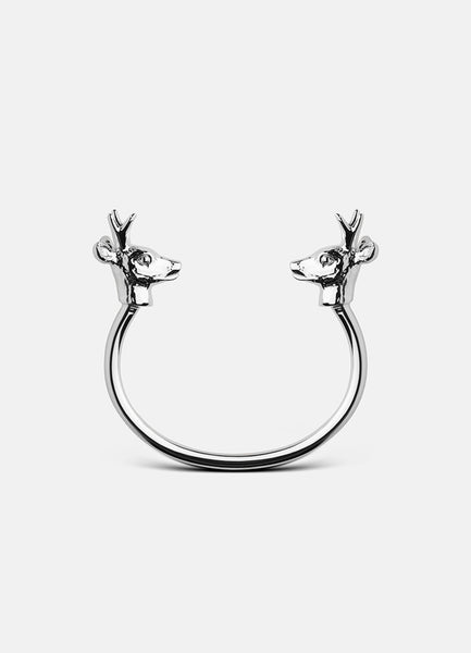 Bangle | The Nordic Series Deer | Polished Steel
