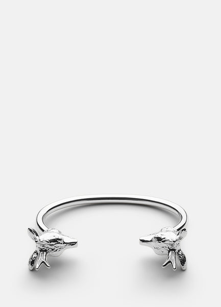 Bangle | The Nordic Series Deer | Polished Steel - STOCKHOLM