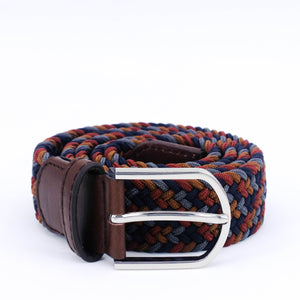 Braided Belt | Coffee Mix | Brown Leather | Steel - STOCKHOLM