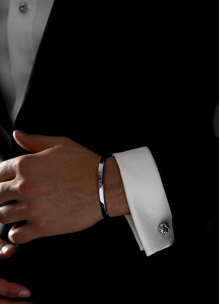 Cufflinks | Black Tie Collection | Silver Knot - STOCKHOLM