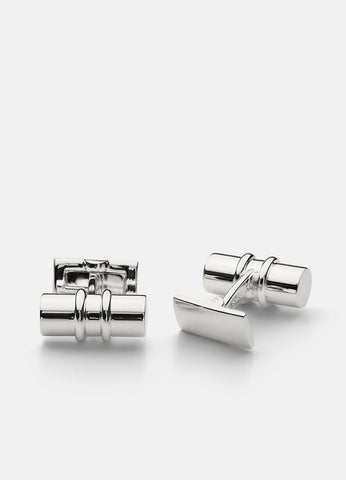 Cufflinks | Black Tie Collection | Silver Bar - STOCKHOLM