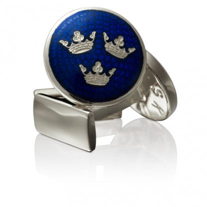 Cufflinks | Three Crowns | Large | Silver - STOCKHOLM