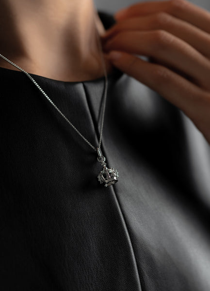Necklace | The Crown | Polished Steel - STOCKHOLM