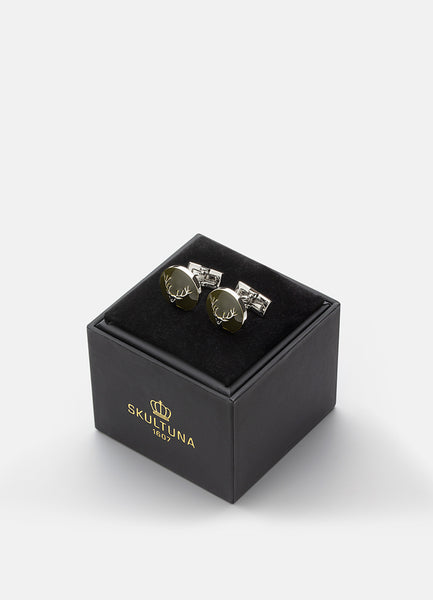 Cufflinks | The Hunter | Silver & Green | The Deer - STOCKHOLM