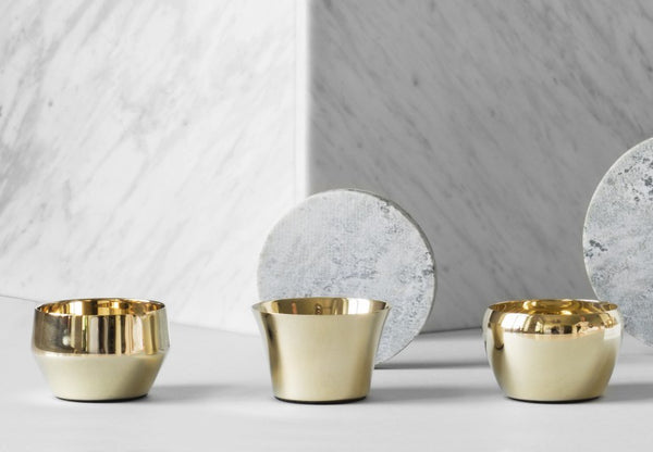 Candle Holder Kin | Set of 3 | Brass - STOCKHOLM