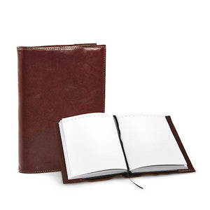 Notebook | Brown | Waxed Buffalo Leather - STOCKHOLM