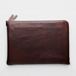 Laptop Sleeve | Febe | Brown Leather - STOCKHOLM