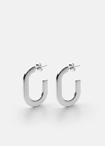 Earrings | Glam | Polished Steel - STOCKHOLM