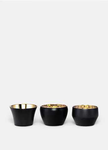 Candle Holder Kin | Set of 3 | Black - STOCKHOLM