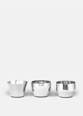 Candle Holder Kin | Set of 3 | Polished Steel - STOCKHOLM