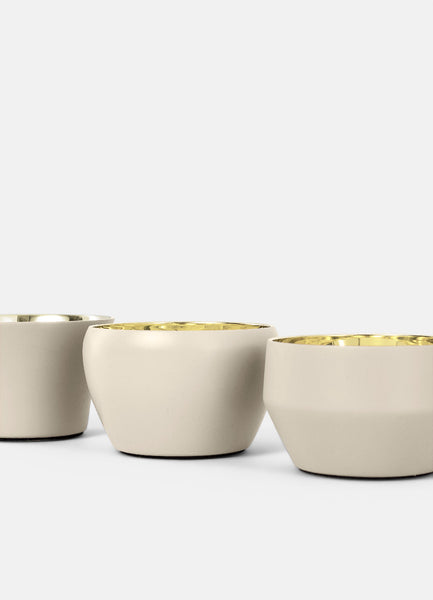 Candle Holder Kin | Set of 3 | Beige - STOCKHOLM