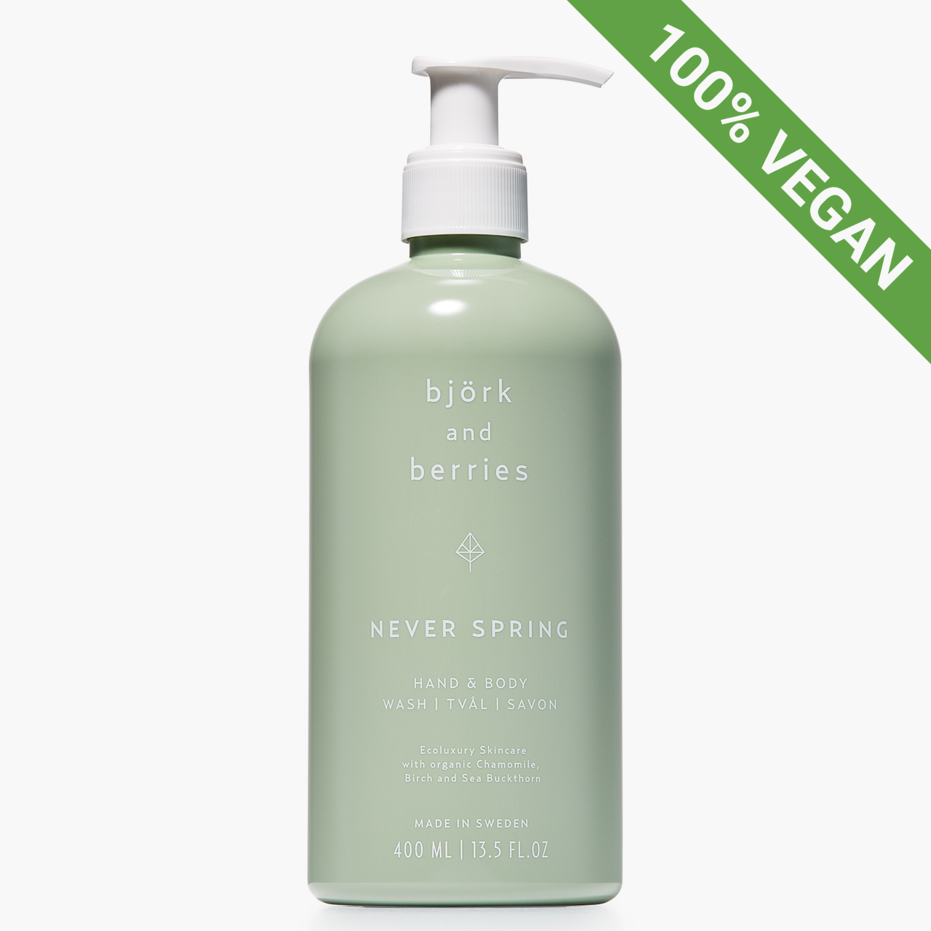 Hand & Body Wash | Never Spring | Vegan | 400 ml