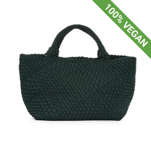Hand Braided Shopper | Green | Vegan