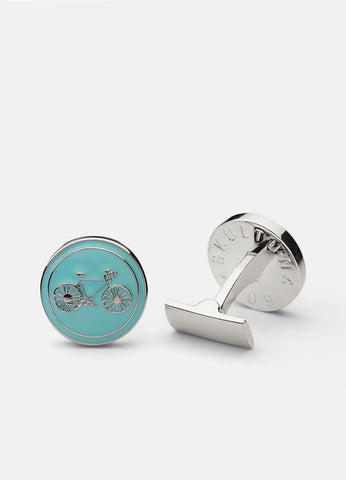 Cufflinks | Themocracy Biker | Light Blue - STOCKHOLM