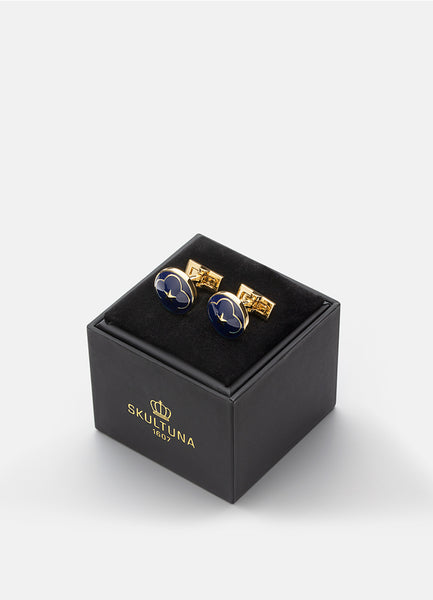 Cufflinks | The Official Wedding Series | Gold | Royal Blue - STOCKHOLM