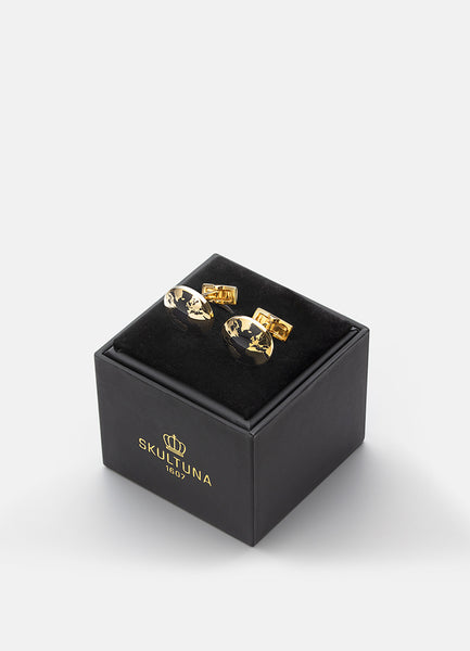 Cufflinks | The World | Gold - STOCKHOLM
