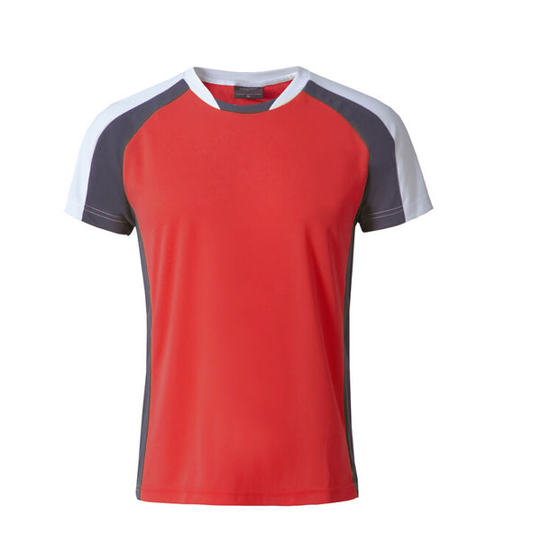 top quality sport mens tshirt,red ,L