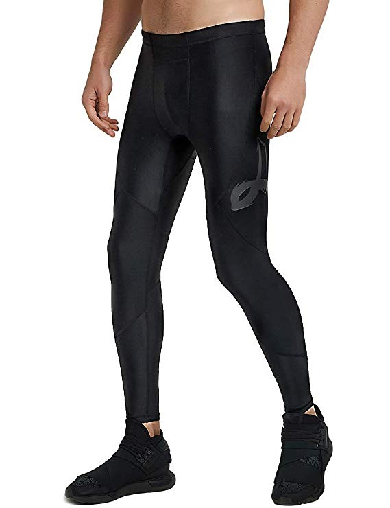 ZITY Men's UPF 50+ Baselayer Quick Dry Cool Compression Tights Pants Leggings with Drawstring