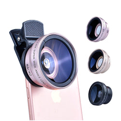 ZITY 2in1 Lens 0.45X Wide Angle+12.5X Macro Lens Professional HD Phone Camera Lens For iPhone 8 7 6S Plus Xiaomi Samsung LG