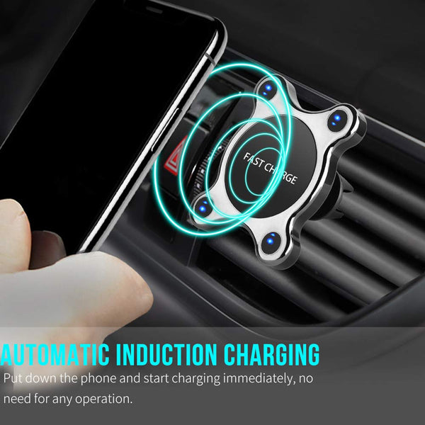 Wireless Fast Charging Auto-Clamping Car Mount