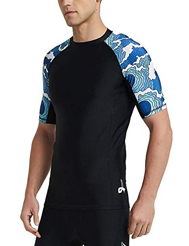 ZITY Men's Short Sleeve UPF 50+ Baselayer Skins Compression Rash Guard