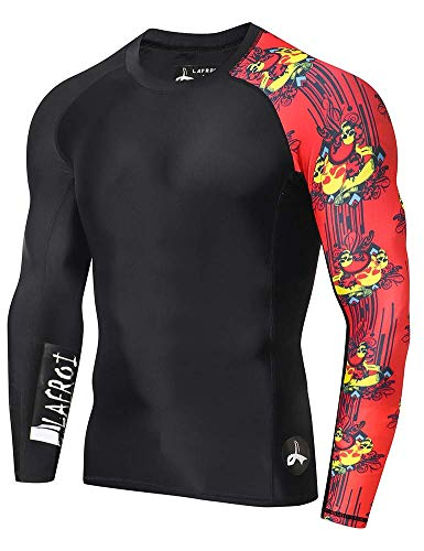 ZITY Men's Long Sleeve UPF 50+ Baselayer Skins Performance Fit Compression Rash Guard-CLYYB